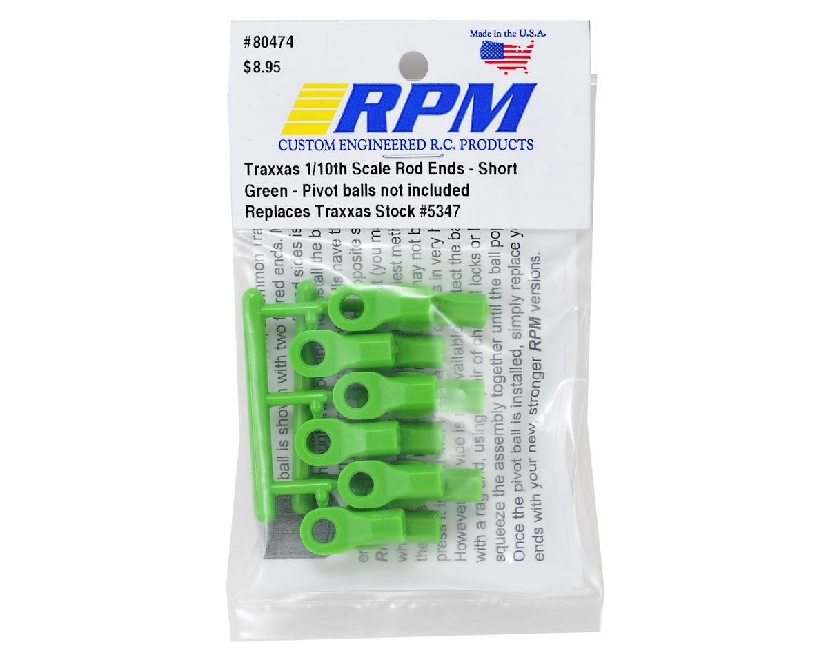 RPM Short Traxxas Turnbluckle Rod End Set (Green) (12)
