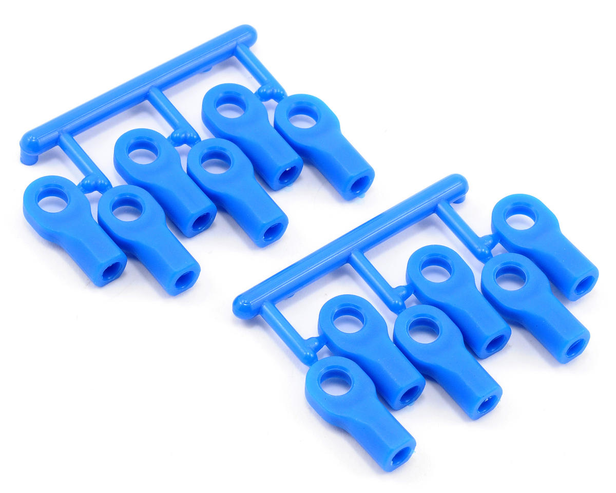 RPM Short Traxxas Nitro Rustler Turnbluckle Rod End Set (Blue) (12)