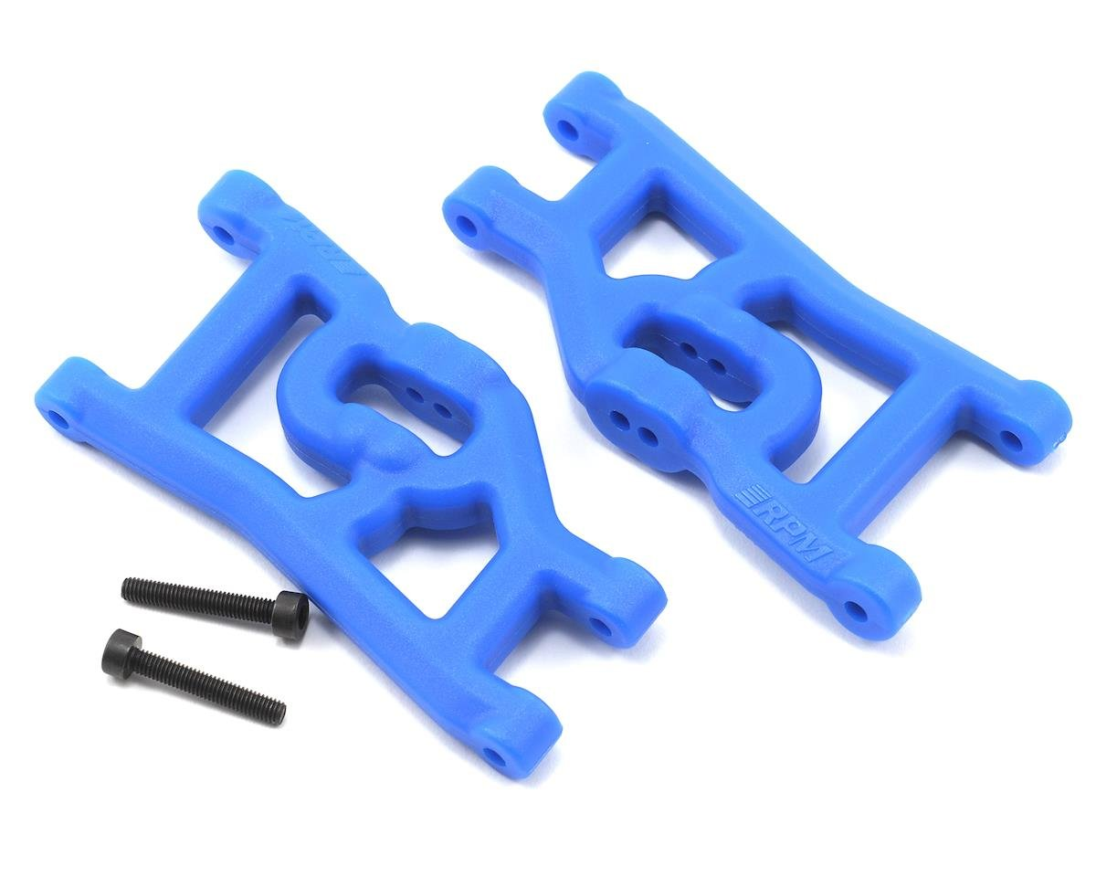 Front A-Arms (Blue) (Nitro Rustler,Stampede,Sport) (2) by RPM