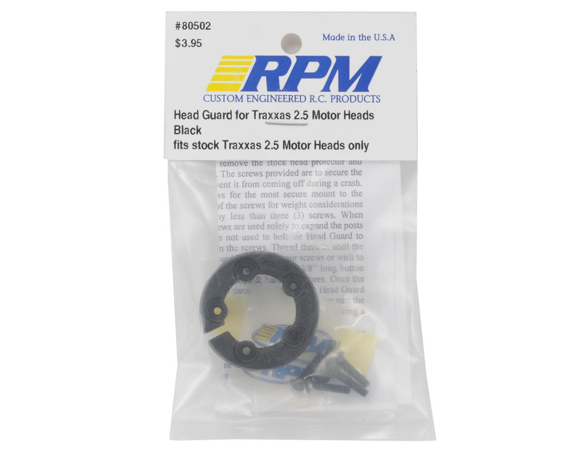 RPM Head Guard Traxxas 2.5 (Black)