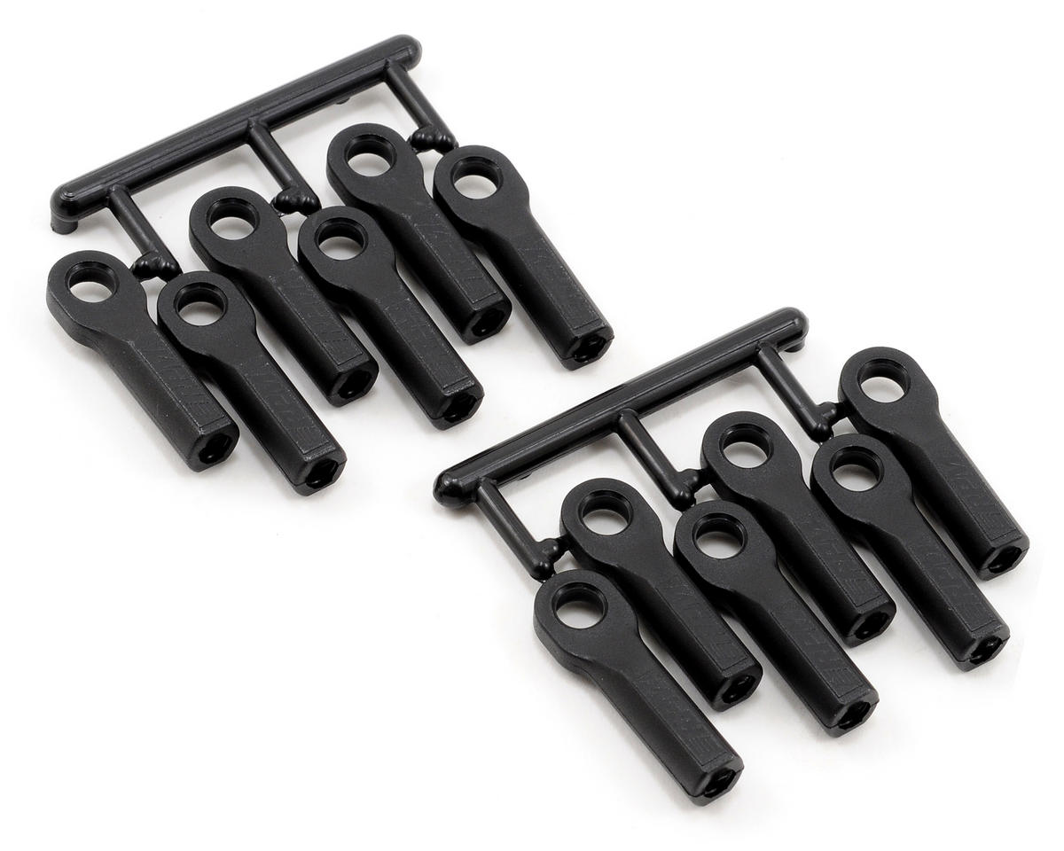 RPM Long Traxxas Nitro 4-Tec Turnbuckle Rod End Set (Black) (12)