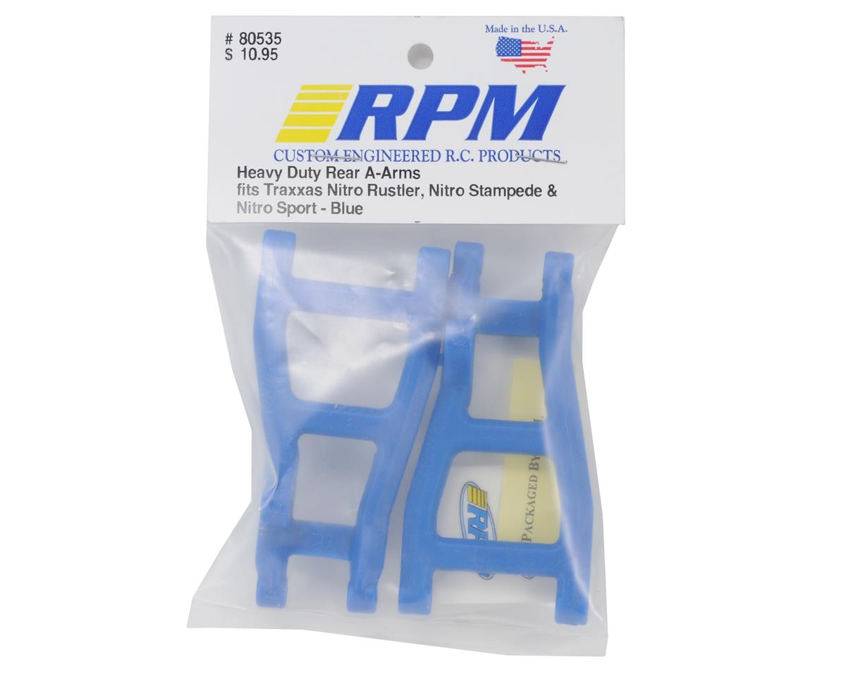 Rear A-Arms (Blue) (Nitro Rustler,Stampede,Sport) by RPM