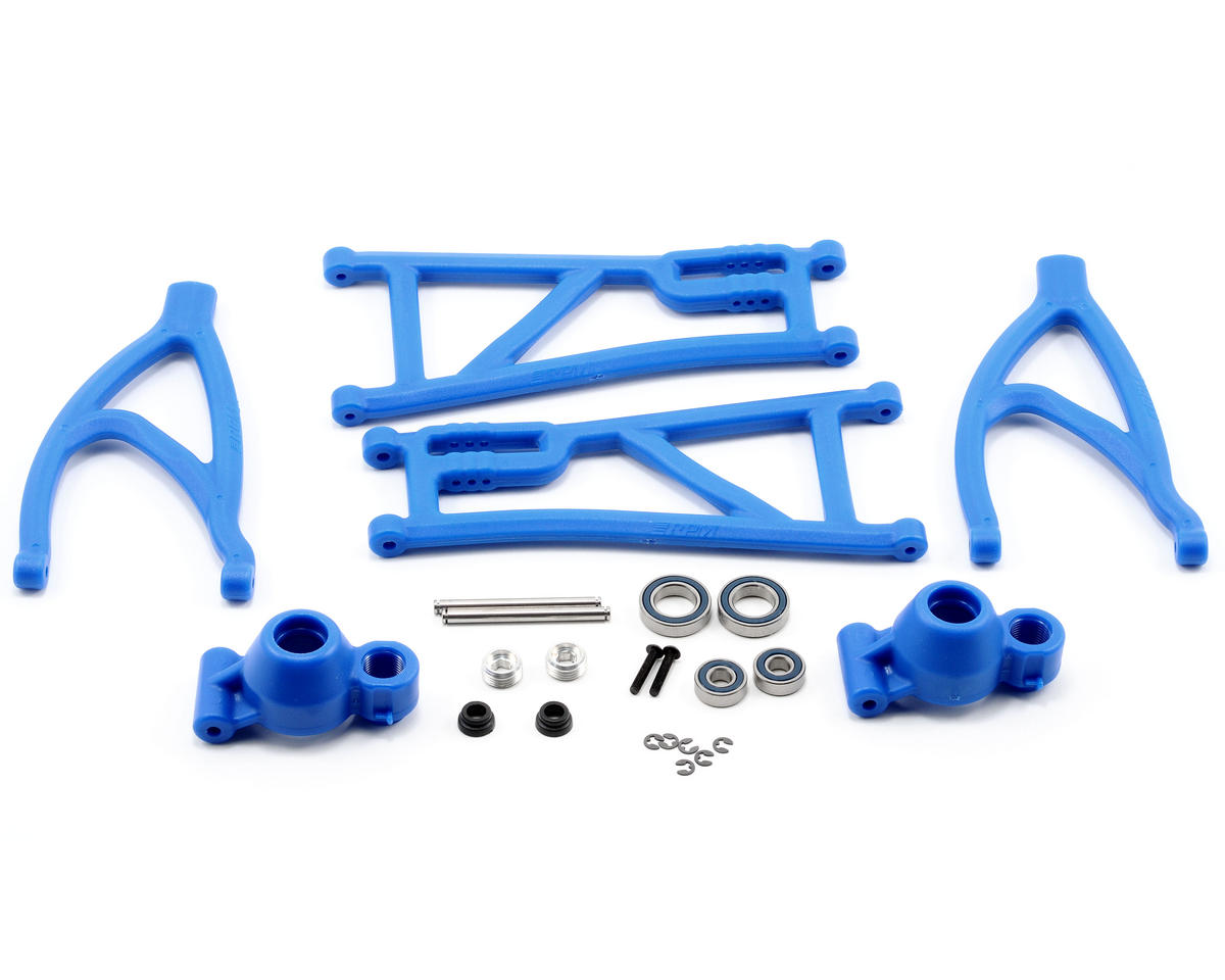 Revo True-Track Rear A-Arm Conversion Kit (Blue)