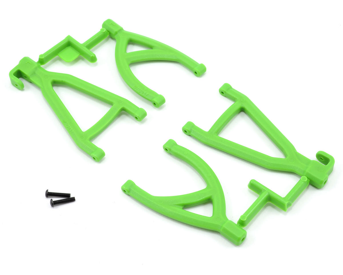 RPM Rear Upper & Lower A-Arm Set (Green) (1/16 E-Revo)