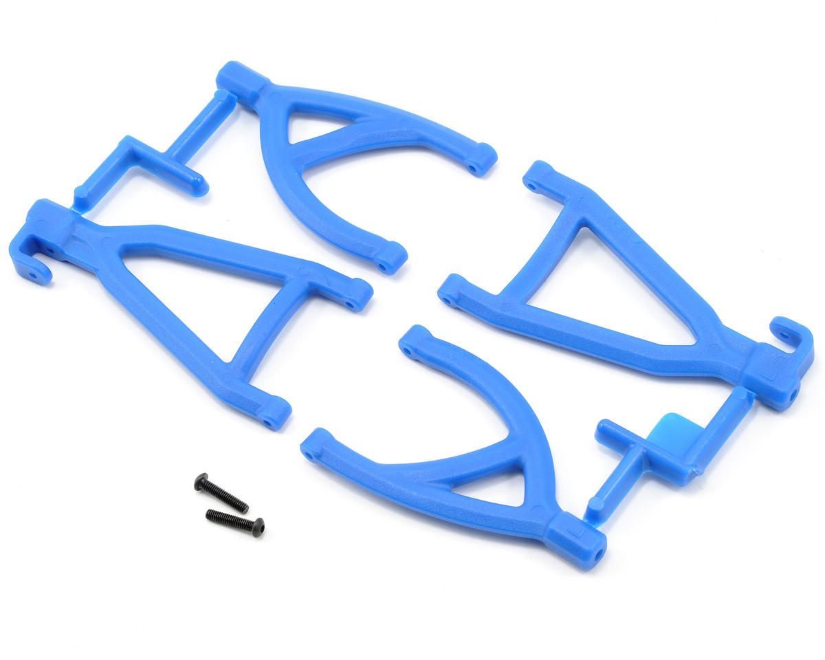 Rear Upper & Lower A-arms (1/16 E-Revo) (Blue) by RPM