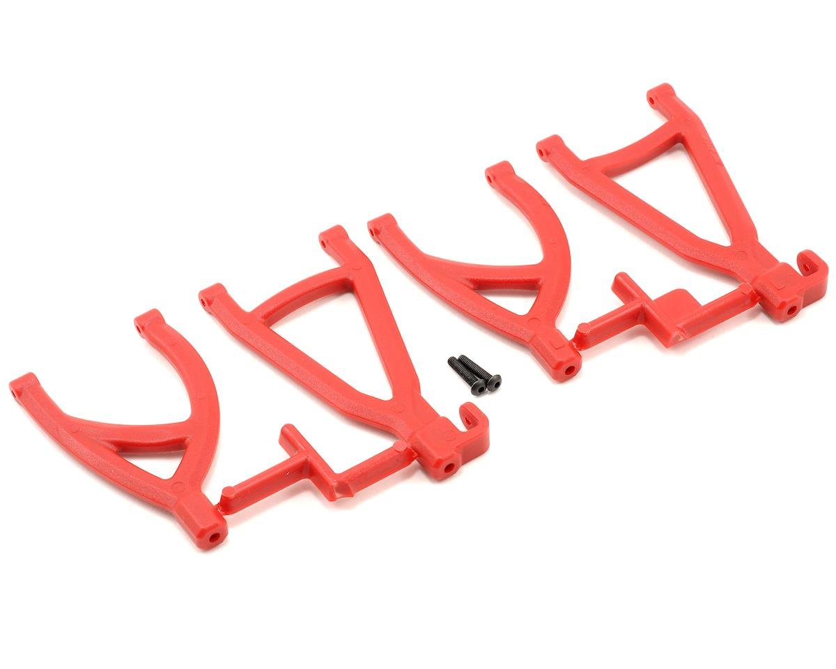 Rear Upper & Lower A-Arm Set (1/16 E-Revo) (Red) by RPM