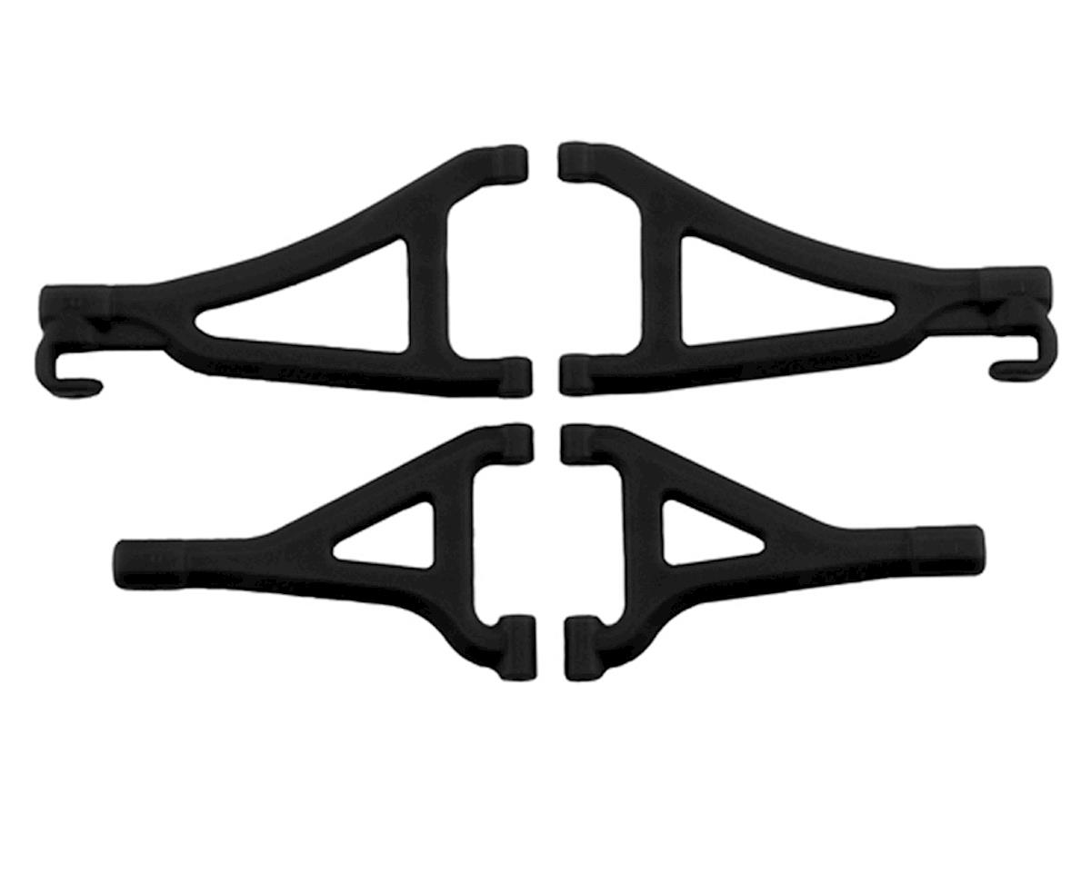 Front Upper & Lower A-Arm Set (1/16 E-Revo) (Black) by RPM