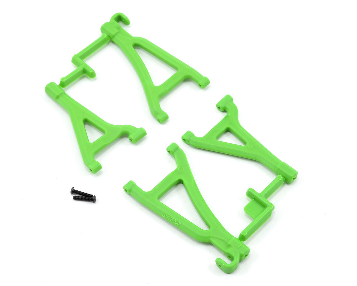 Front Upper & Lower A-Arm Set (Green) (1/16 E-Revo) by RPM