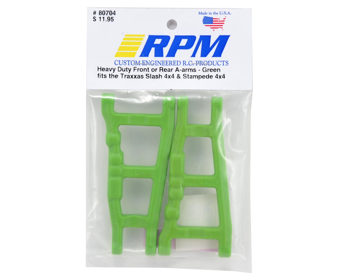 RPM Traxxas 4x4 Front/Rear A-Arm Set (Green) (2)