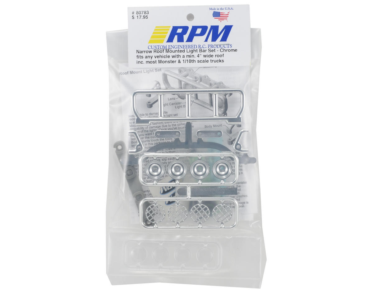 RPM Narrow Roof Mounted Light Bar Set (Chrome)