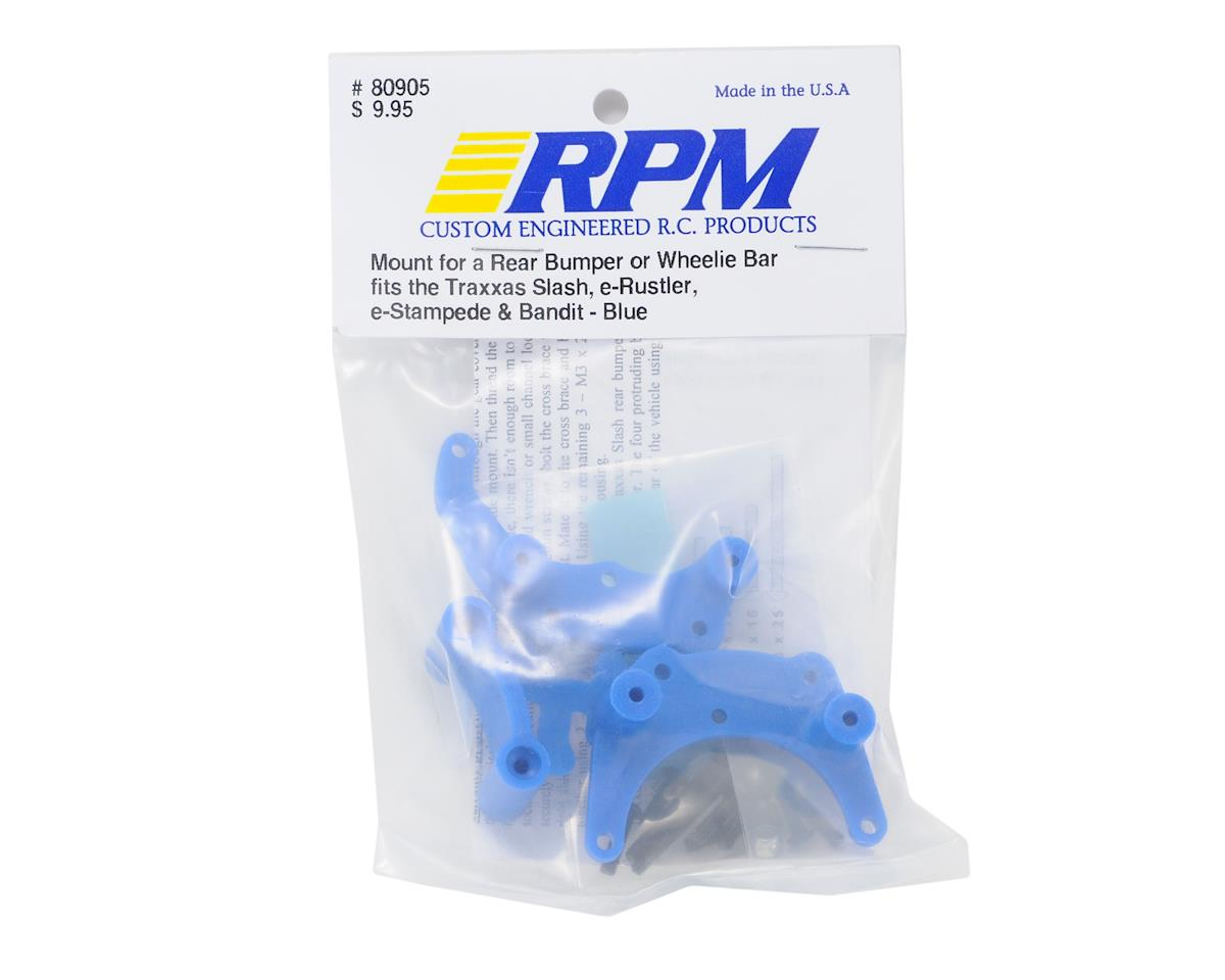 RPM Bumper Mount (Blue) (Rustler,Stampede,Bandit,Slash)