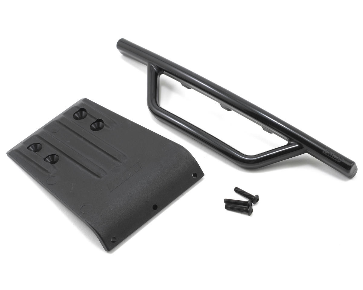 Front Bumper & Skid Plate (Black) (Slash)