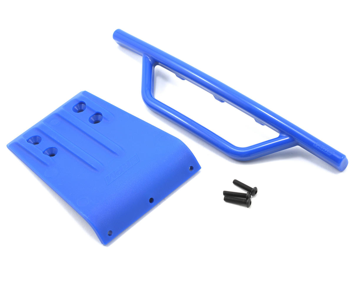 Front Bumper & Skid Plate (Blue) (Slash) by RPM
