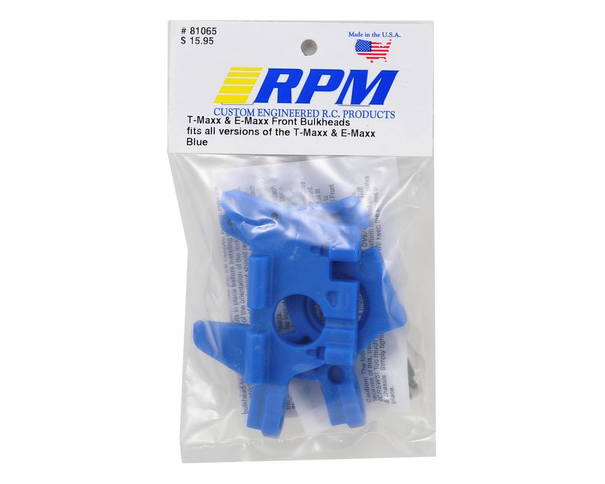 RPM Traxxas Maxx Front Bulkhead Set (Blue)