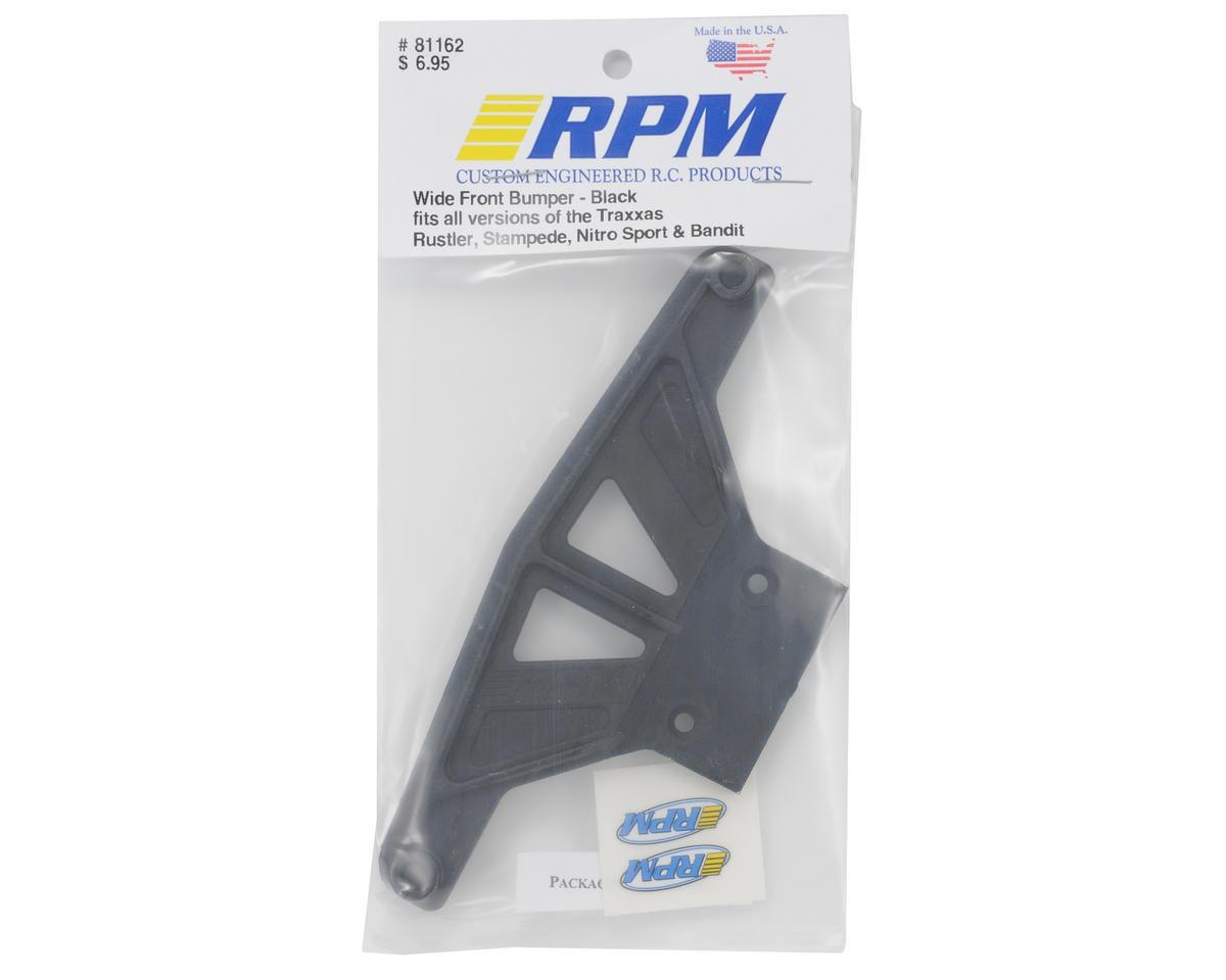 RPM Wide Front Bumper (Black) (Rustler,Stampede,Bandit)
