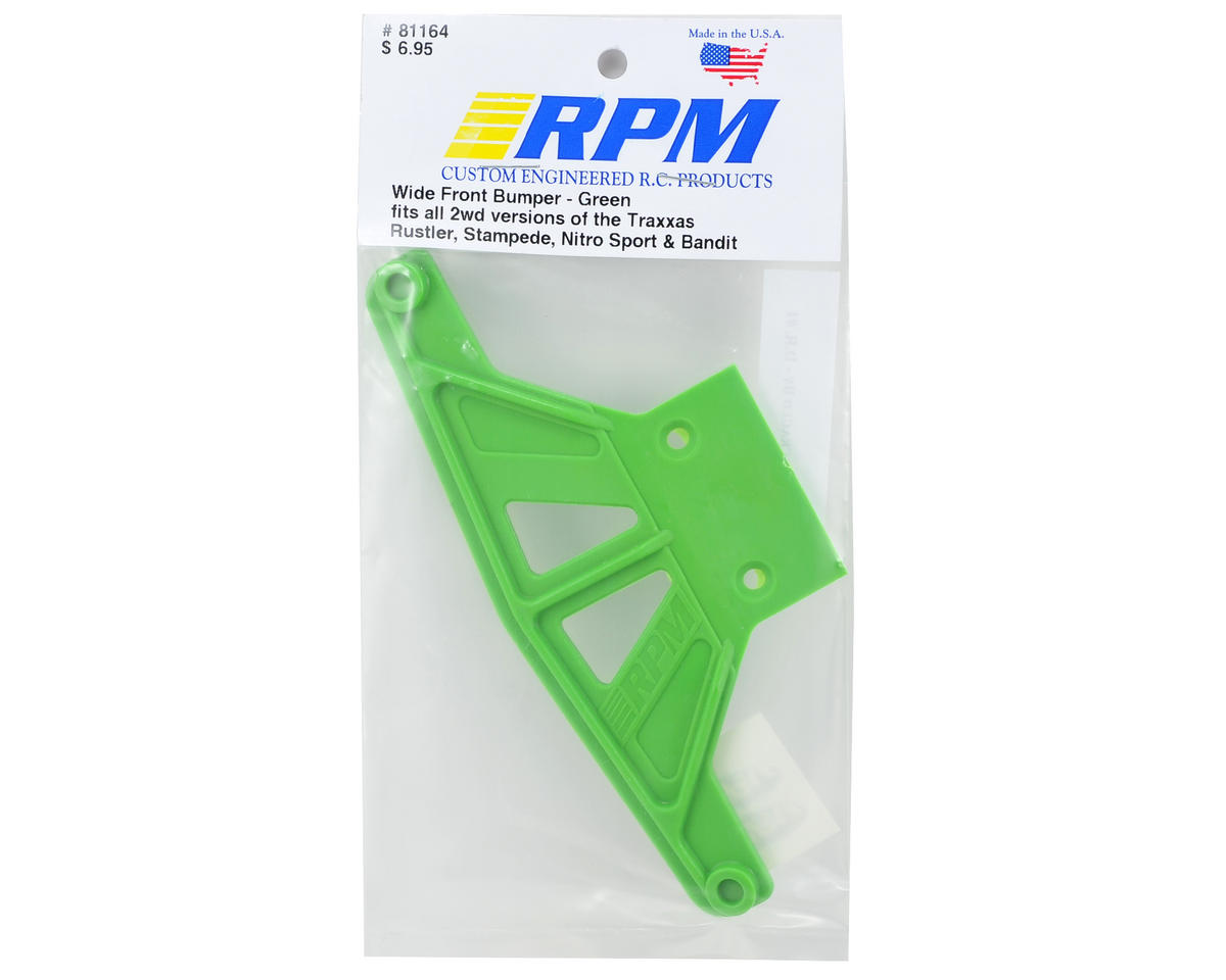 RPM Wide Front Bumper (Green) (Rustler,Stampede,Bandit)