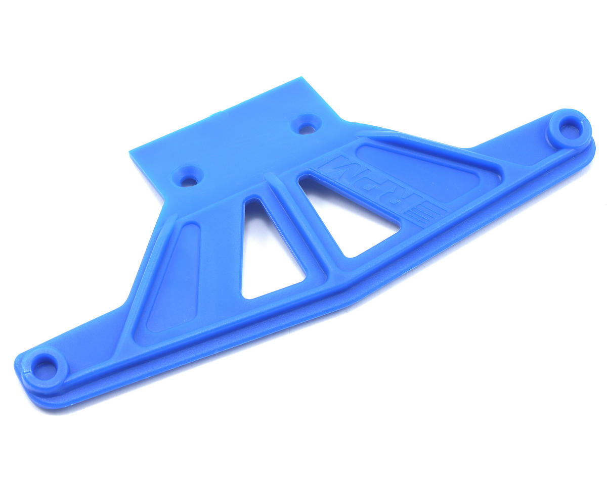 Traxxas Rustler/Stampede Wide Front Bumper (Blue) by RPM
