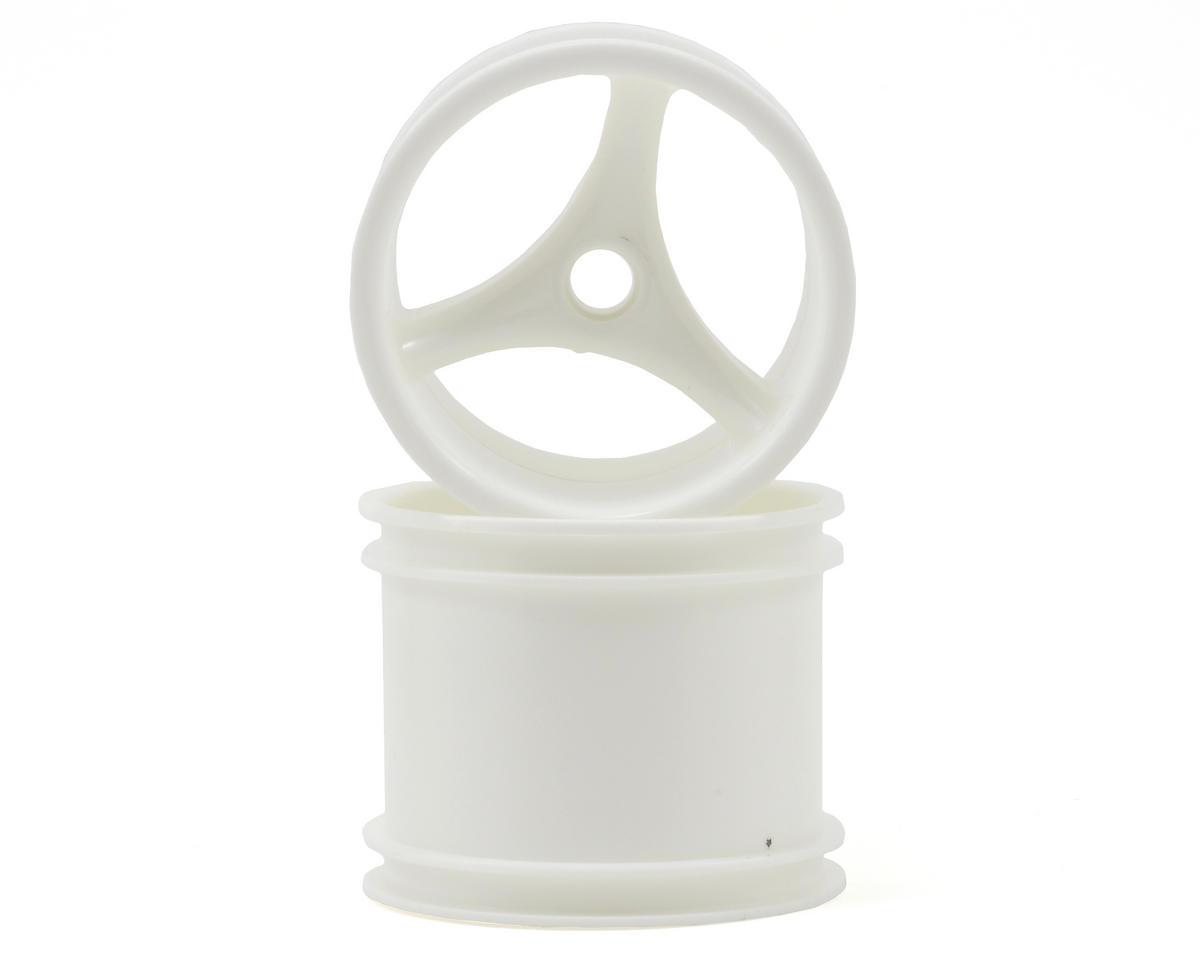 """RPM """"Talonz 3-Spoke"""" Losi Front Truck Wheels (2) (Dyeable White) (Pins)"""