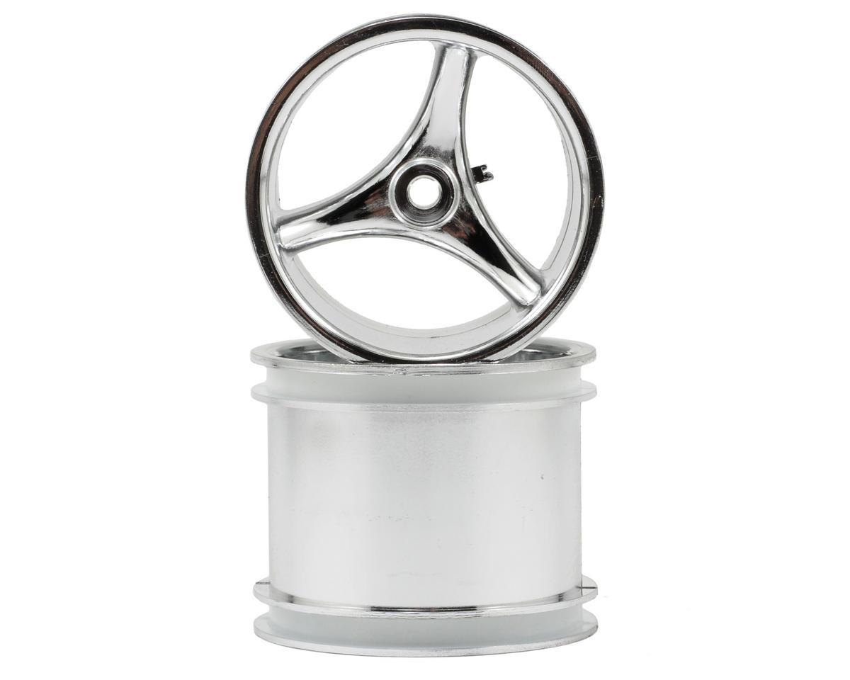 """RPM 12mm Hex """"Talonz 3-Spoke"""" Traxxas Electric Rear Wheels (2) (Chrome)"""