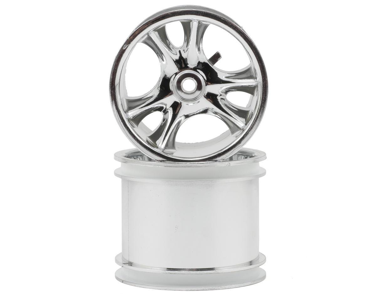 "RPM 12mm Hex ""Clawz 6-Spoke"" Traxxas Electric Rear Wheels (2) (Chrome)"
