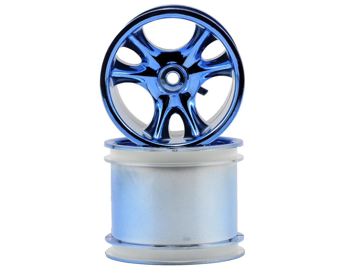 "RPM 12mm Hex ""Clawz 6-Spoke"" Traxxas Electric Rear Wheels (2) (Blue Chrome)"