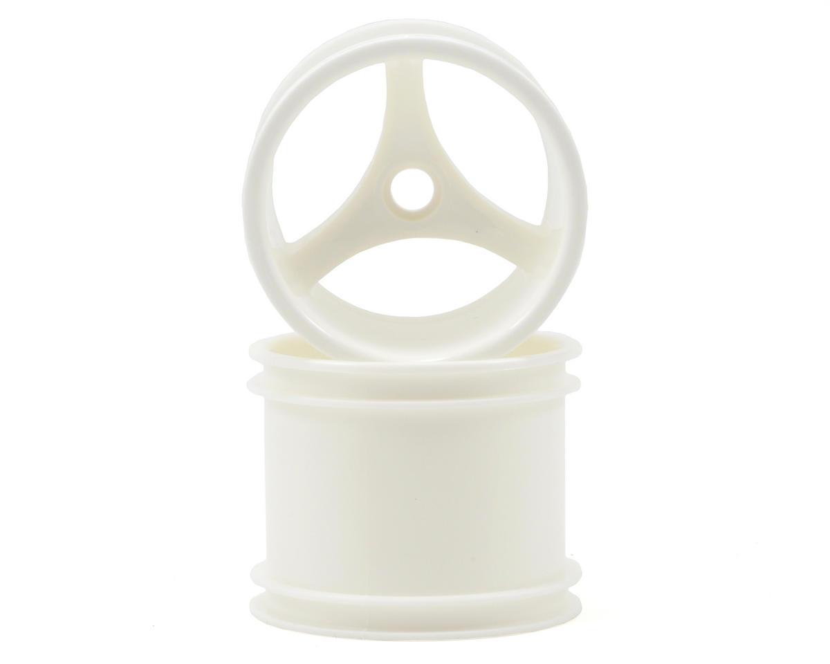 "RPM ""Talonz 3-Spoke"" Traxxas Nitro Front Wheels (2) (Dyeable White) (Pins)"