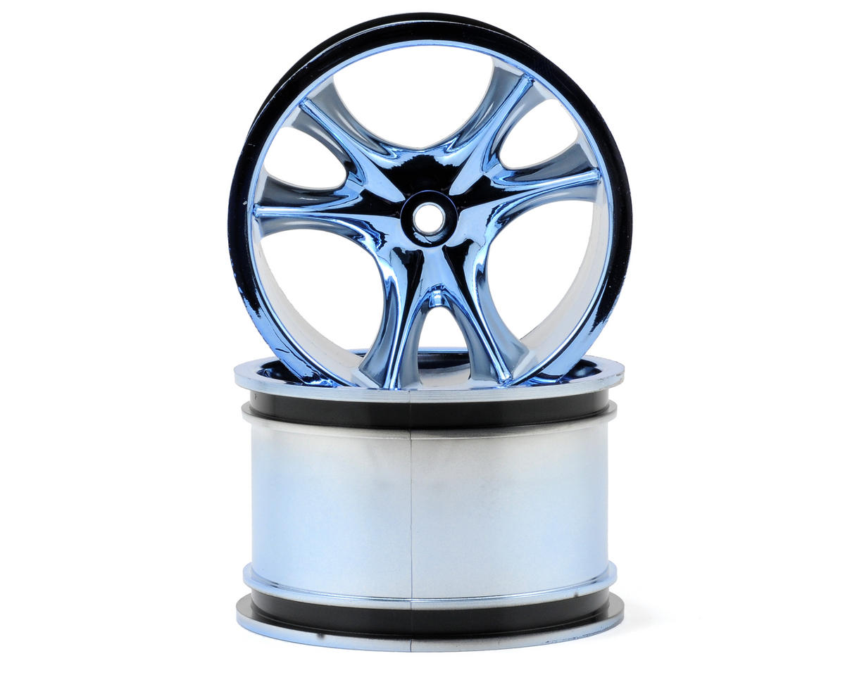 RPM Monster Clawz Monster Truck Wheel (2) (Standard Offset) (Blue Chrome)