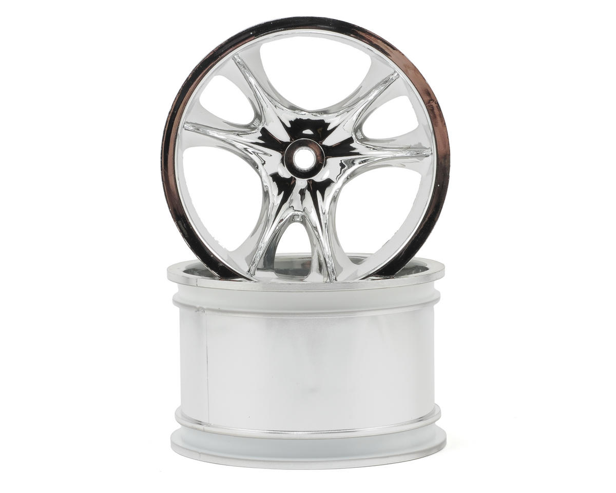 "RPM ""Monster Clawz"" Monster Truck Wheels (14mm Hex) (2) (StableMaxx) (Chrome)"