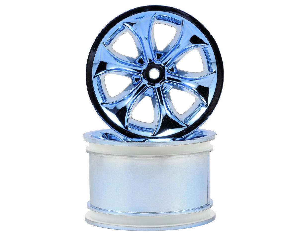 "RPM ""Titan"" Monster Truck Wheels (14mm Hex) (2) (Standard Offset) (Blue Chrome)"