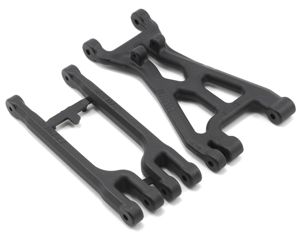 RPM Right Front/Left Rear A-Arm Set (Black) (HPI Racing Savage Flux HP)