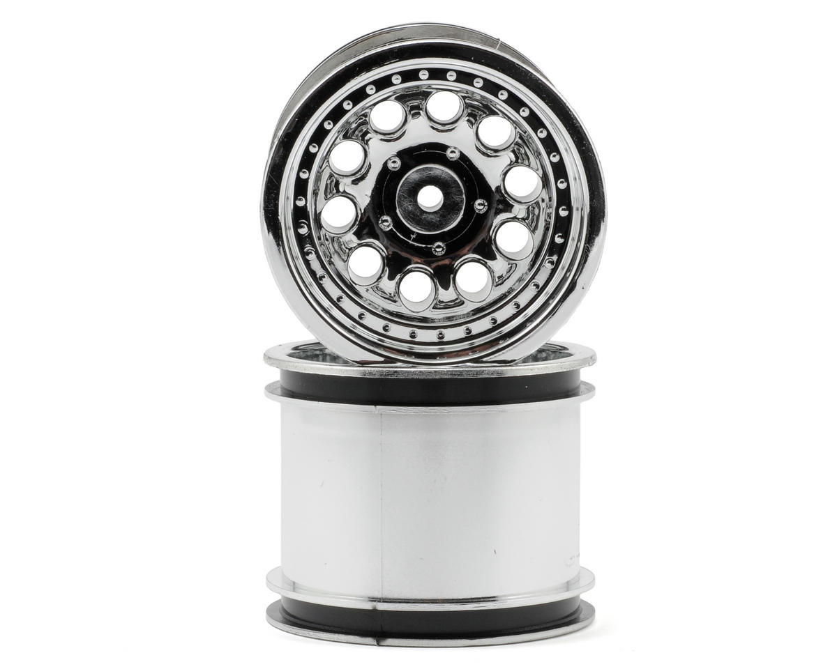 "RPM ""Revolver 10 Hole"" Rear Wheels (2) (1/4"" Associated) (Chrome)"