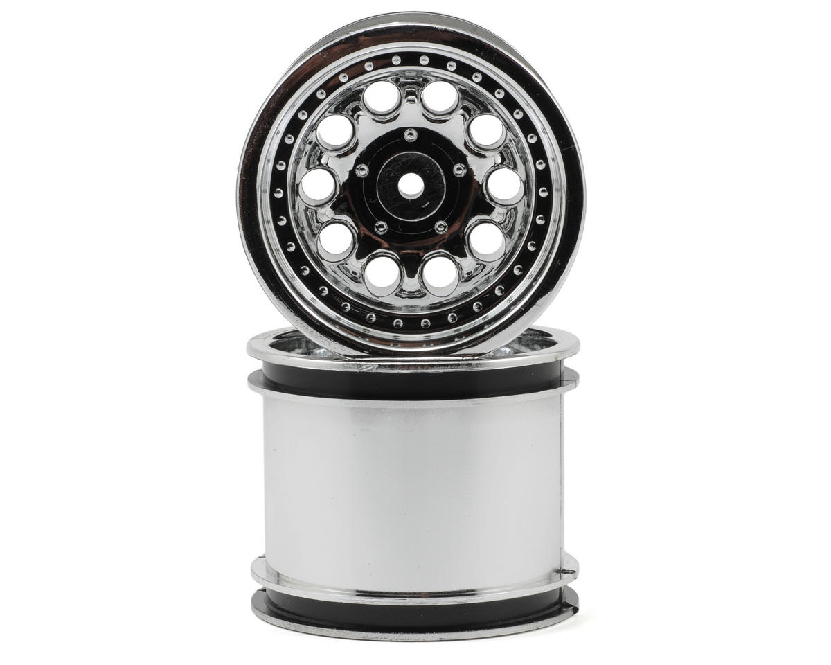 "RPM ""Revolver 10 Hole"" Associated Rear Wheels (2) (Chrome) (Pins) 