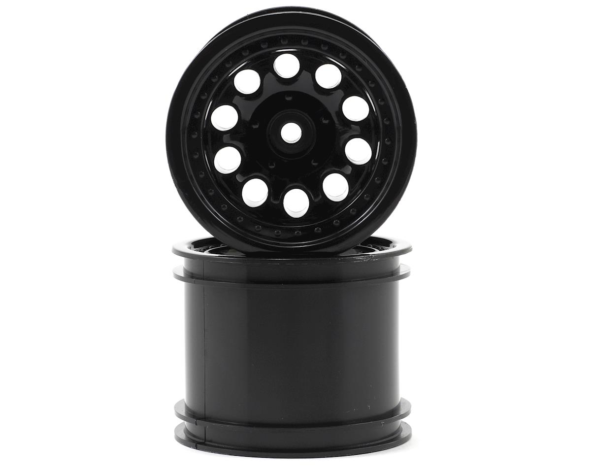 "12mm Hex ""Revolver 10 Hole"" Traxxas Electric Rear Wheels (2) (Black) by RPM"