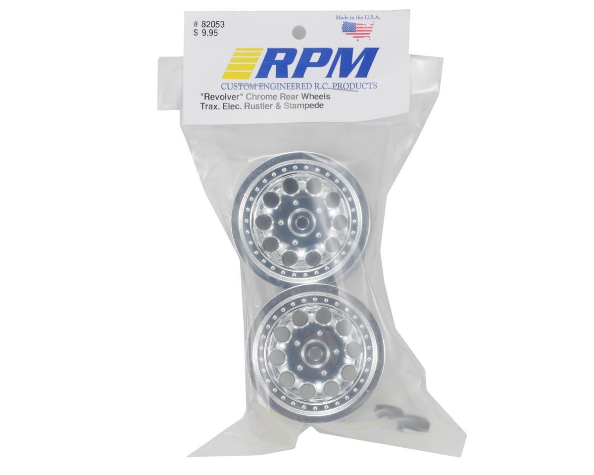 "RPM 12mm Hex ""Revolver 10 Hole"" Traxxas Electric Rear Wheels (2) (Chrome)"
