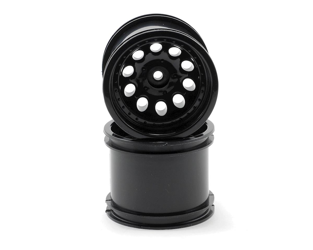 Revolver 10 Hole Traxxas Electric Front/Nitro Rear Wheels (2) (Black) by RPM