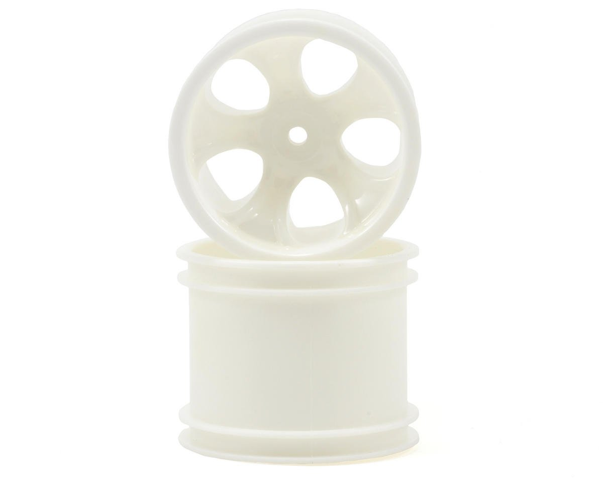 "RPM ""Bully 5 Spoke"" Rear Wheels (2) (1/4"" Associated) (Dyeable White) (Pins)"