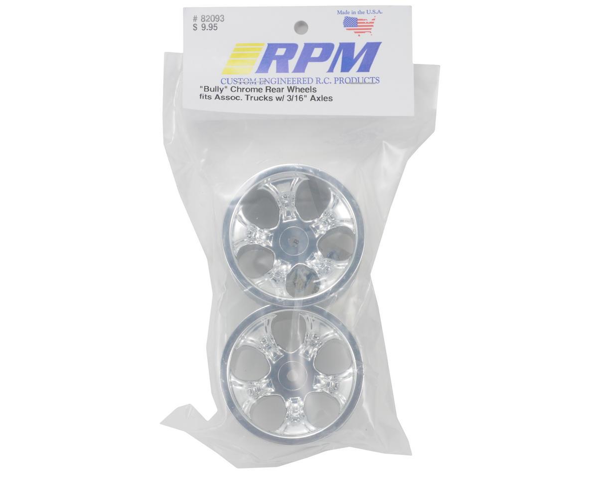 "RPM ""Bully"" (5 Spoke) Associated Rear Wheels (Chrome) (3/16)"