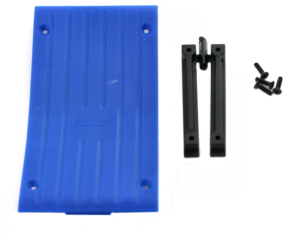 RPM Savage Center Skid Plate (Blue)