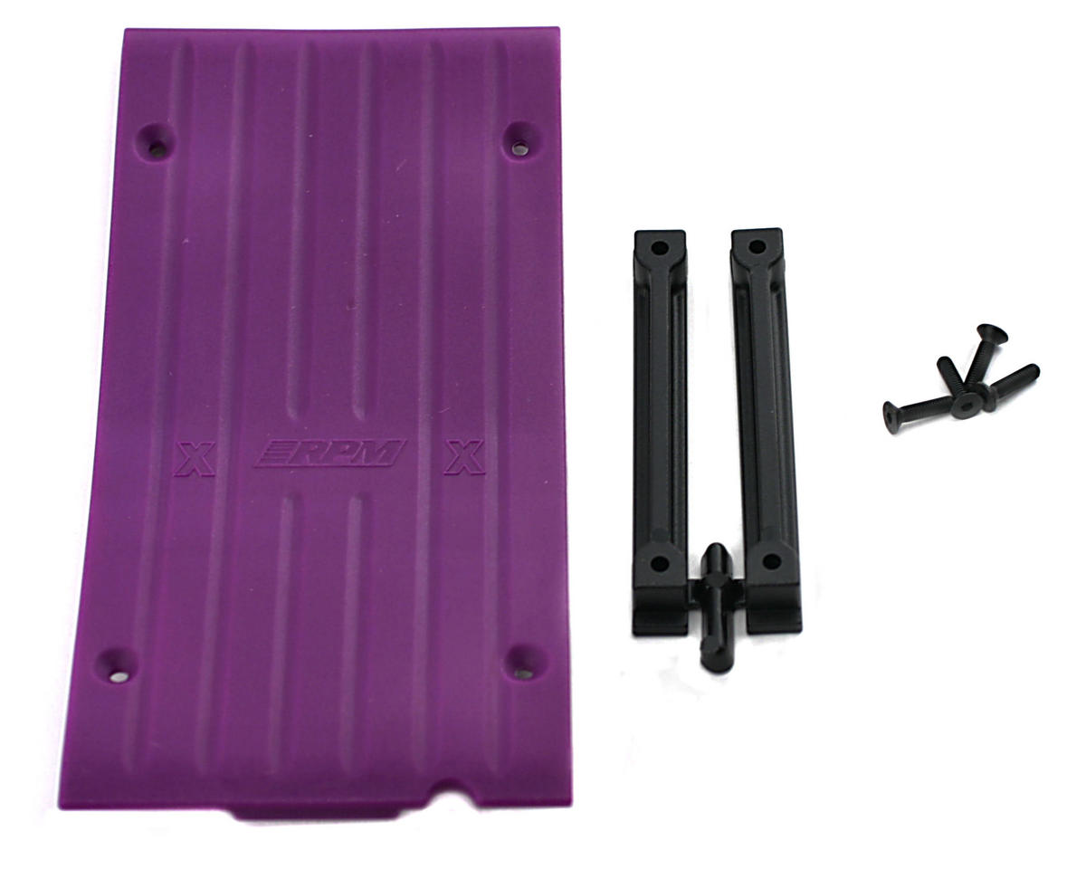 RPM Savage-X Center Skid Plate (Purple)