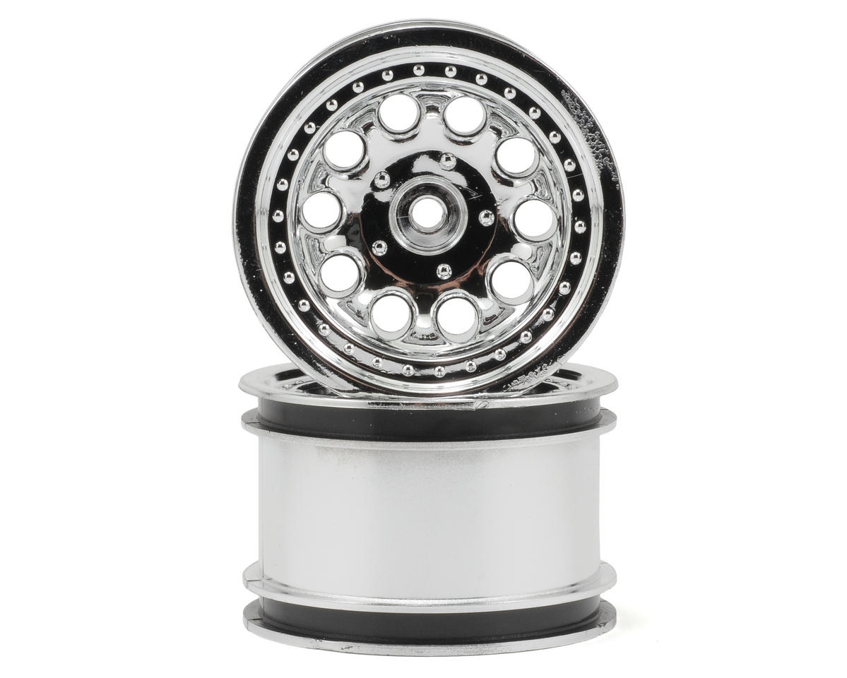"RPM Revolver 2.2"" Rock Crawler Wheels (2) (Chrome) (Narrow Wheelbase)"