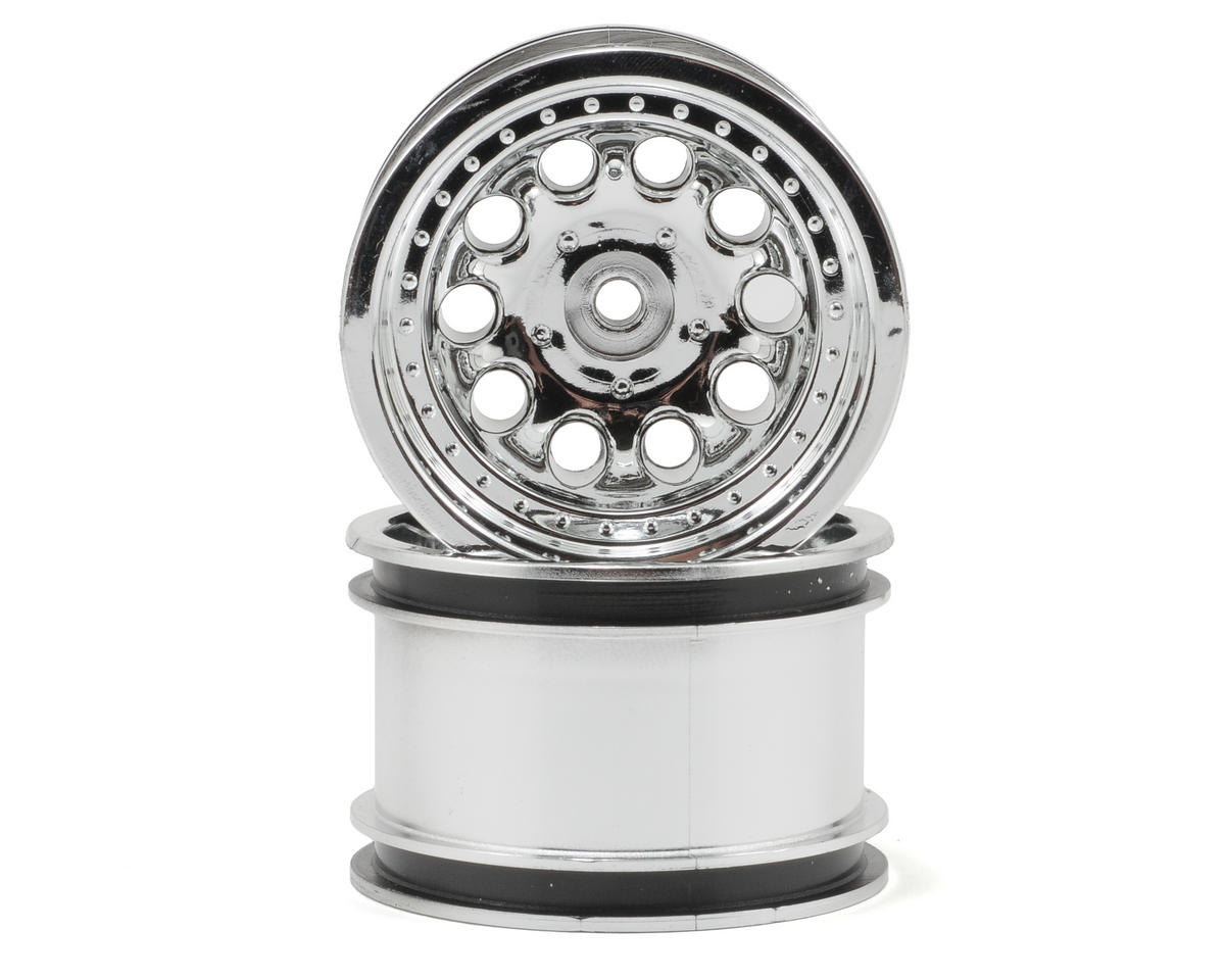 "Revolver 2.2"" Rock Crawler Wheels (2) (Chrome) (Wide Wheelbase) by RPM"