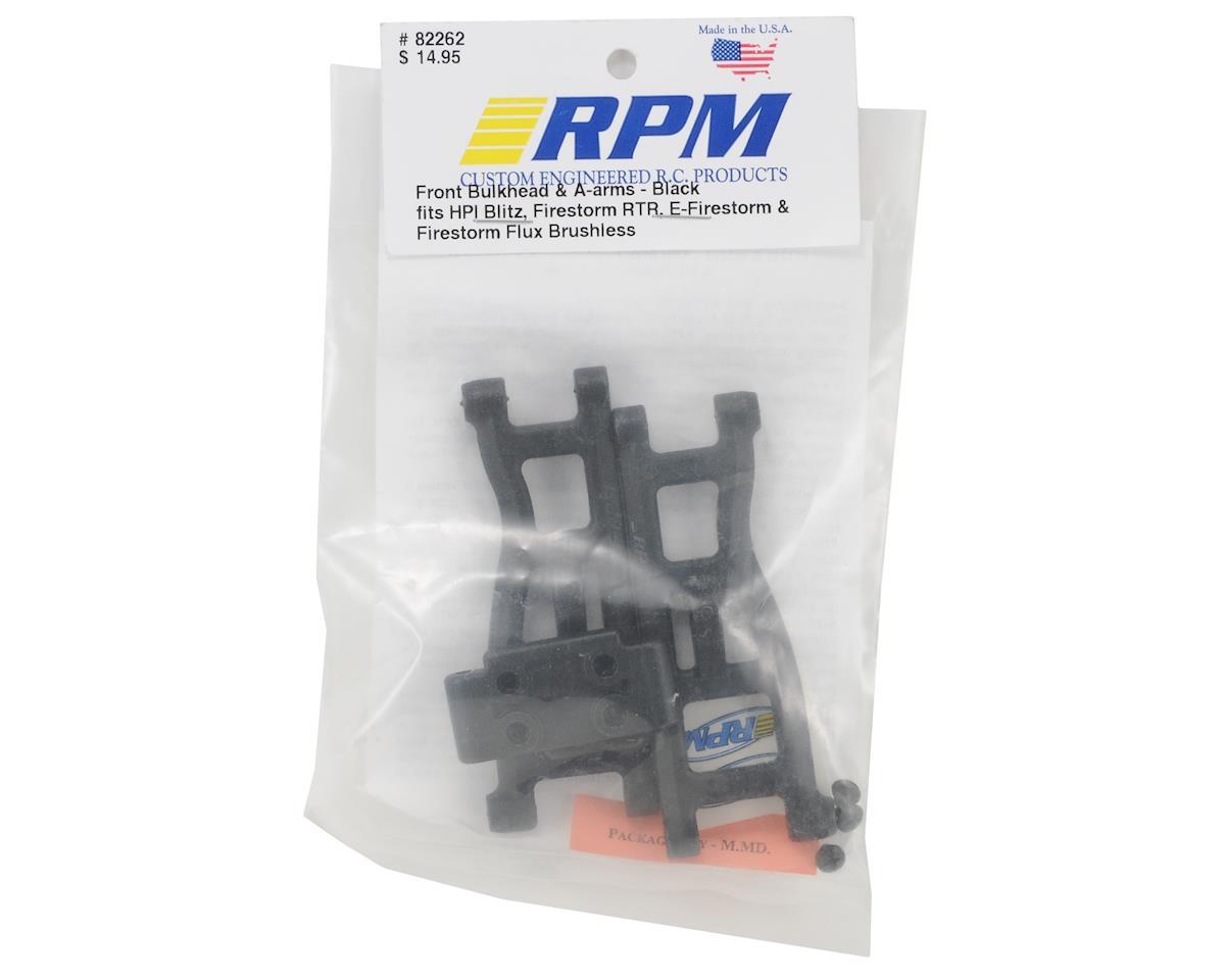 RPM Front A-Arms w/Bulkhead (Black) (Blitz)