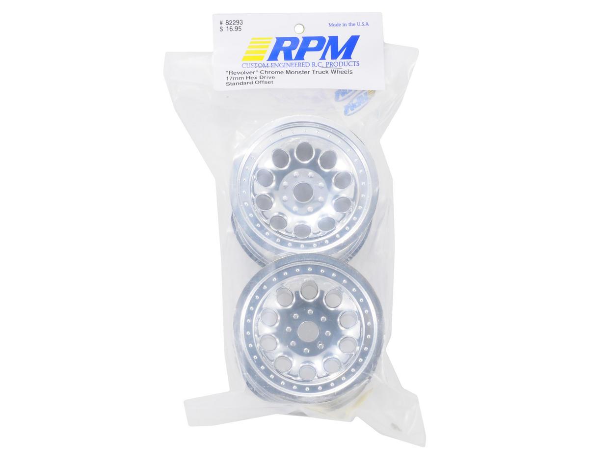 "RPM ""Revolver"" Monster Truck Wheels (17mm Hex) (2) (Standard Offset) (Chrome)"