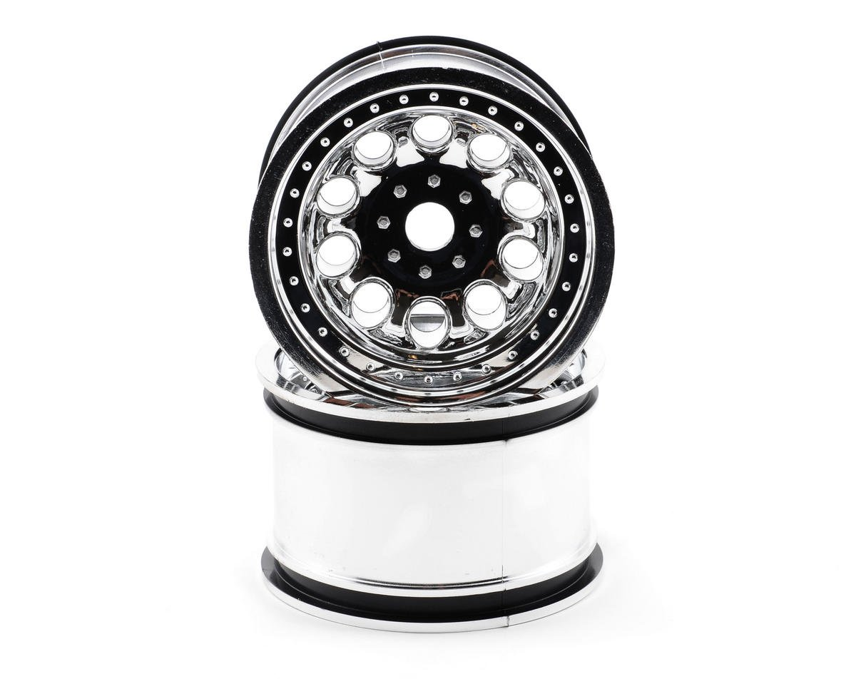 "RPM ""Revolver"" Monster Truck Wheels (17mm Hex) (2) (StableMaxx) (Chrome)"