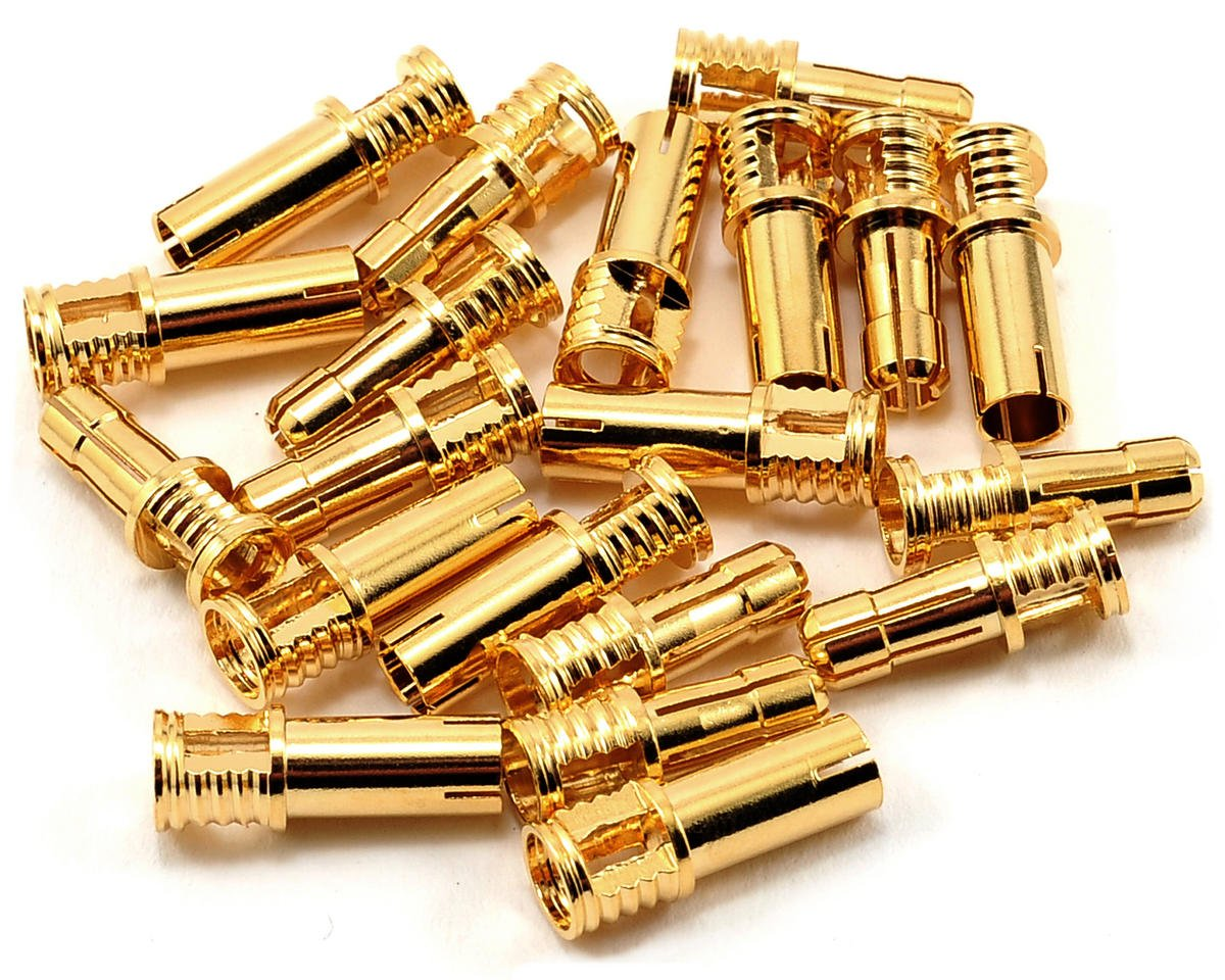 4mm Bullet Connector (10 Sets) (12~14AWG) by RCPROPLUS