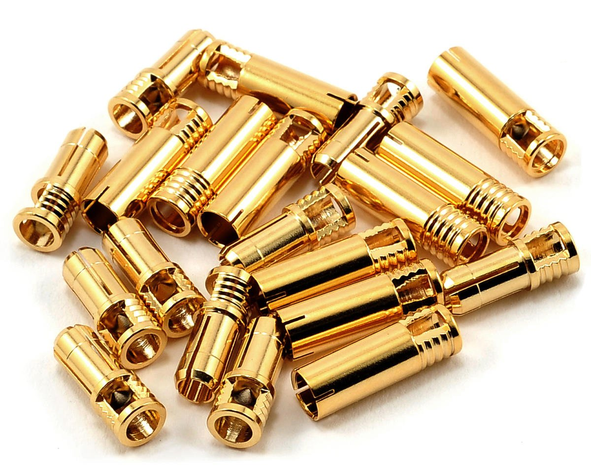 RCPROPLUS 5mm Bullet Connector (10 Sets) (10~12AWG)