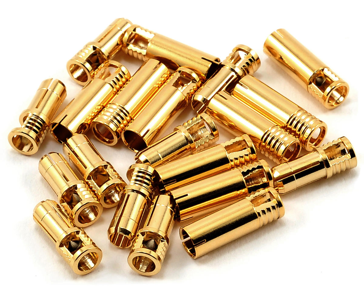 5mm Bullet Connector (10 Sets) (10~12AWG) by RCPROPLUS