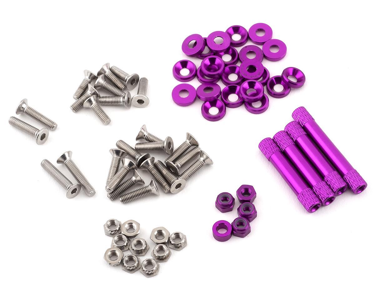 Rotor Riot Remix Frame Replacement Full Hardware Kit (Purple)
