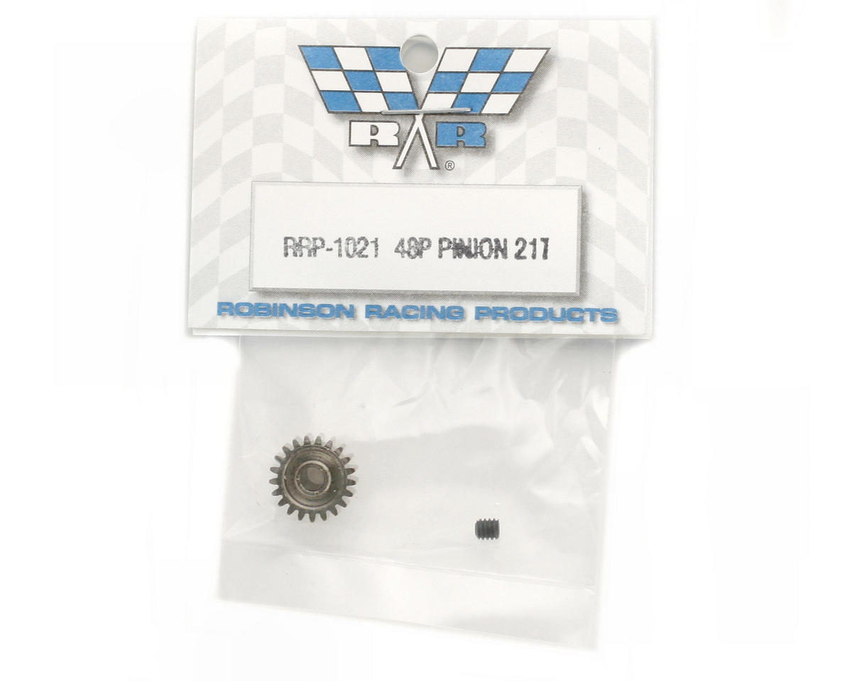 Robinson Racing Steel 48P Pinion Gear (3.17mm Bore) (21T)