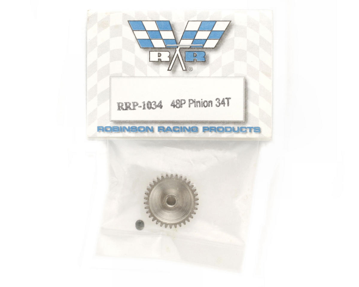 Robinson Racing Steel 48P Pinion Gear (3.17mm Bore) (34T)